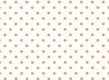 Basically Wide Pink Spot on White
