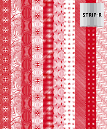 Optical Illusions RED STRIPE 20823 24