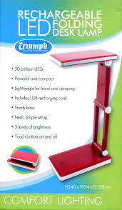 Triumph Rechargeable Folding Desk Lamp -RED