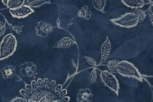 Jacobean Vine Navy