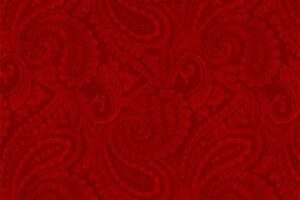 Complements Paisley Dark Red
