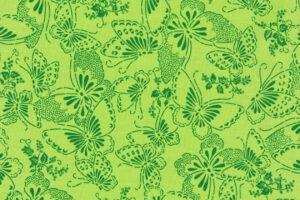 Butterflies Lime Green