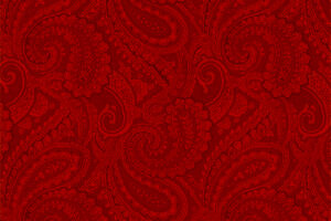 Complements Paisley Red 1.8m wide