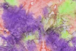 Mystical Tie Dye 'K' Purple/Lime/Pink