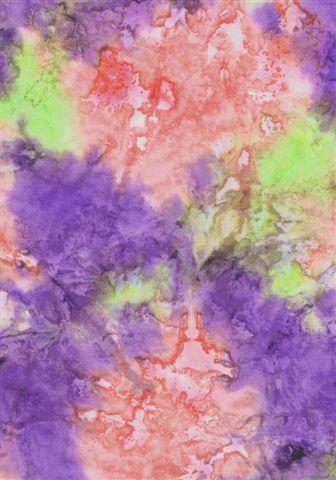 Mystical Tie Dye 'K' Purple/Lime/Pink