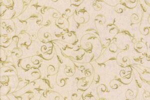 Flannel Rambling Scroll Cream