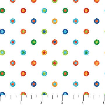 "Rainbow Multi Dots  44"" wide"