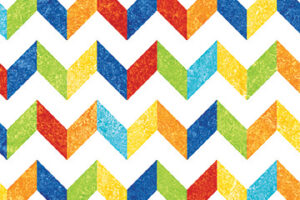 "Rainbow Strong Chevron  44"" wide"