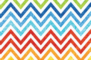 "Rainbow Chevron  44"" wide"