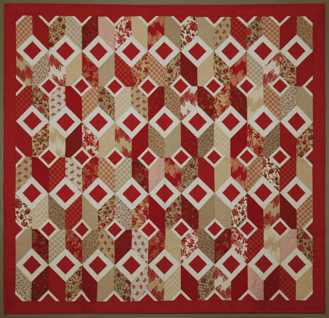 Pattern Ruby Squares