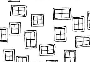 Illustrations Windows on White 761 W