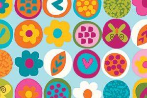 Flamingo Fling Blue Background 6914 60