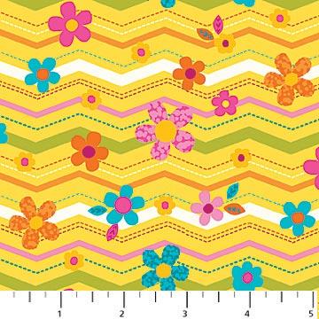 Flamingo Fling Yellow Background 6916 52
