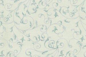 Rambling Scroll Mint on Cream
