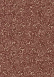 Dragonflies Beige on Burgundy