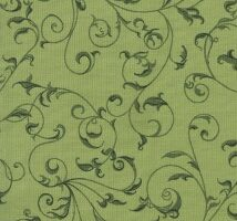 Flannel Rambling Scroll Green