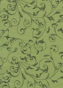 Flannel Rambling Scroll Green