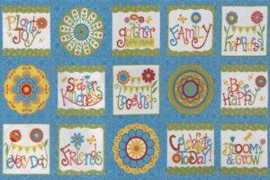 Bloomin Fresh Panel BLUE