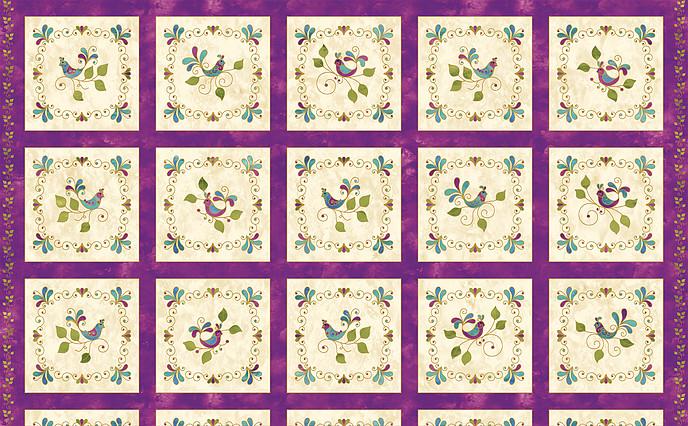 Songbird Pansy  (Panel)
