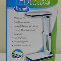 Triumph Rechargeable Folding Desk Lamp -WHITE