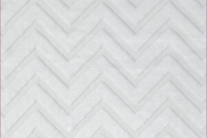 Chevron Cuddle White (Minky)