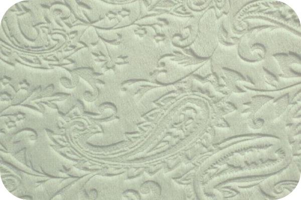 Paisley Cuddle White (Minky)