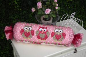 Look Who!  Bolster Cushion pattern