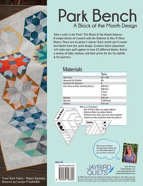 Park Bench BOM Pattern Book JBQ 139