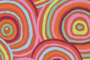 Kaffe Fassett Red Circles