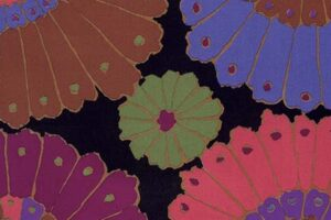 Kaffe Fassett Black Carpet