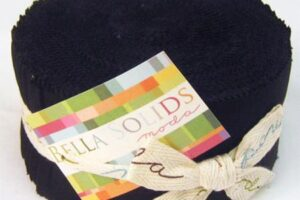Bella Solids  Black Jelly Roll
