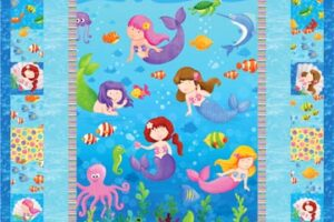 Little Mermaid Panel & Fabric