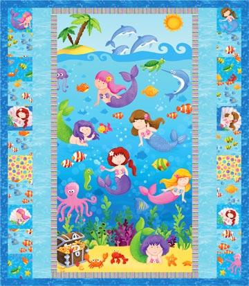 Little Mermaid Panel & Fabric