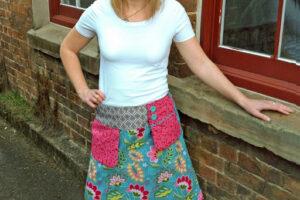 Ladies Swing Pocket Skirt