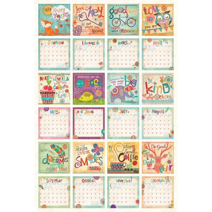 2017 Calender FABRIC - Happy Thoughts DP 21496 11