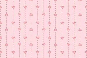Basically Wide Pink Hearts