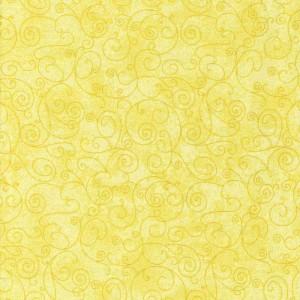 **Flat Fold Flannel Harmony Yellow 2m