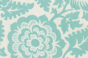 Modernist Blockprint Blossom Aqua  pwjd137 aquax