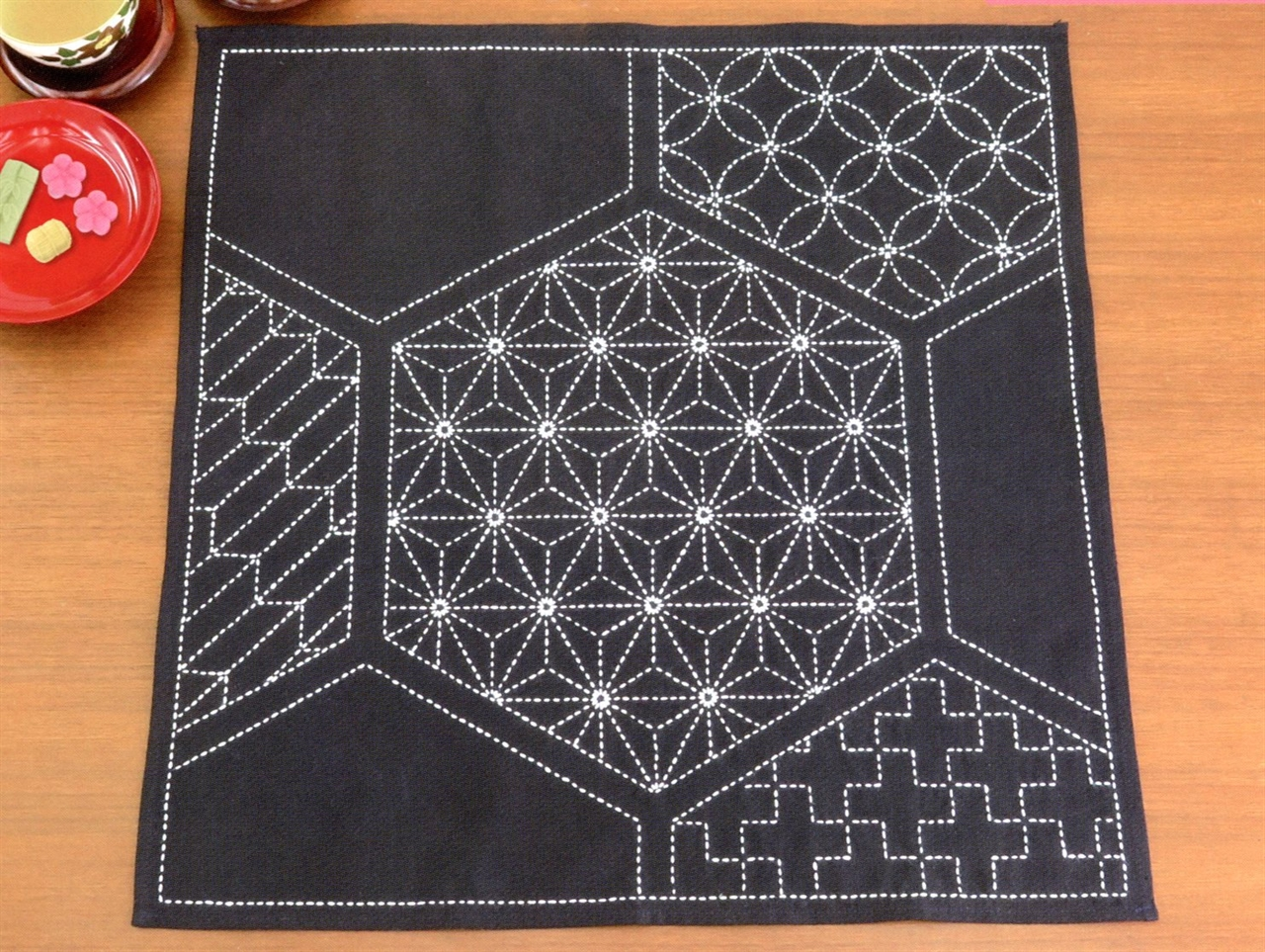 Sashiko Kit Table Topper or Furoshiki