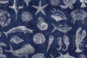 Ocean Oasis Blueprint Navy 25831 N