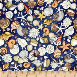 Ocean Oasis Shells Navy 25833 N