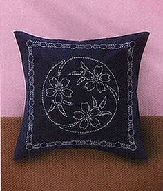 Sashiko Kit 216  Cushion Cover Cherry Blossom