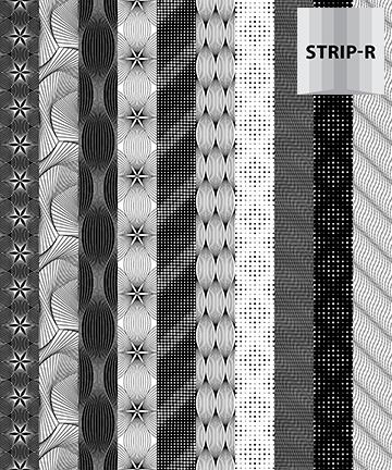 Optical Illusions BLACK STRIPE 20823 99
