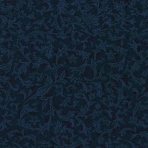 Bolt End Flannel Foliage Navy 1.4m