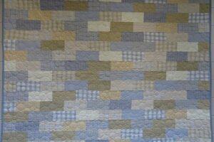 Vintage Flannel Quilt Kit Primo Plaid COOL CALM