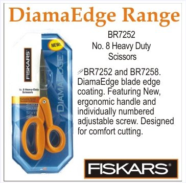Fiskars DiamaEdge No 8 Heavy Duty Scissors
