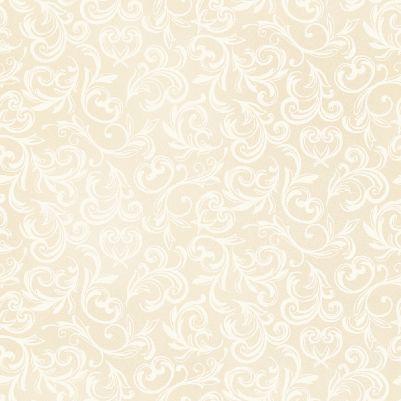 Pearl Essence Scroll Antique Cream 114 E