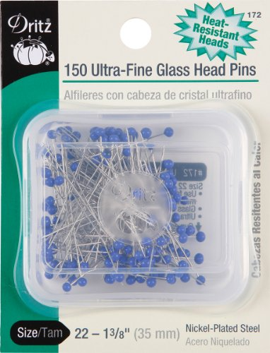 Ultra-Fine Glass Head Pins (150 pack)
