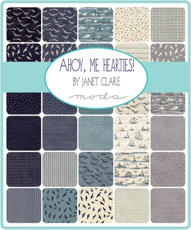 Ahoy, Me Hearties Range Fat Quarter Bundle
