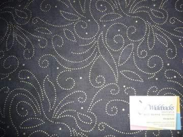 Flat Fold Marble Scroll Black/Gold 3m piece